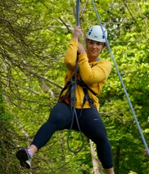 Zip wire in Devon