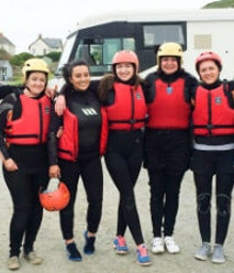 Raft building Devon