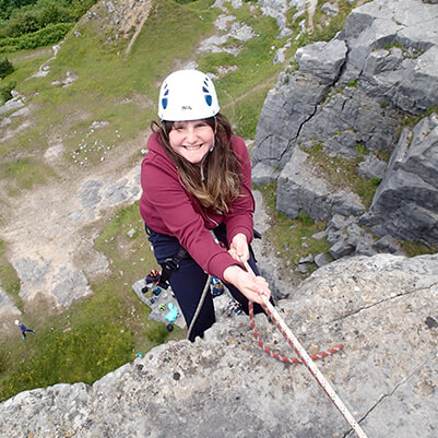 outdoor rock climbing sessions North Devon