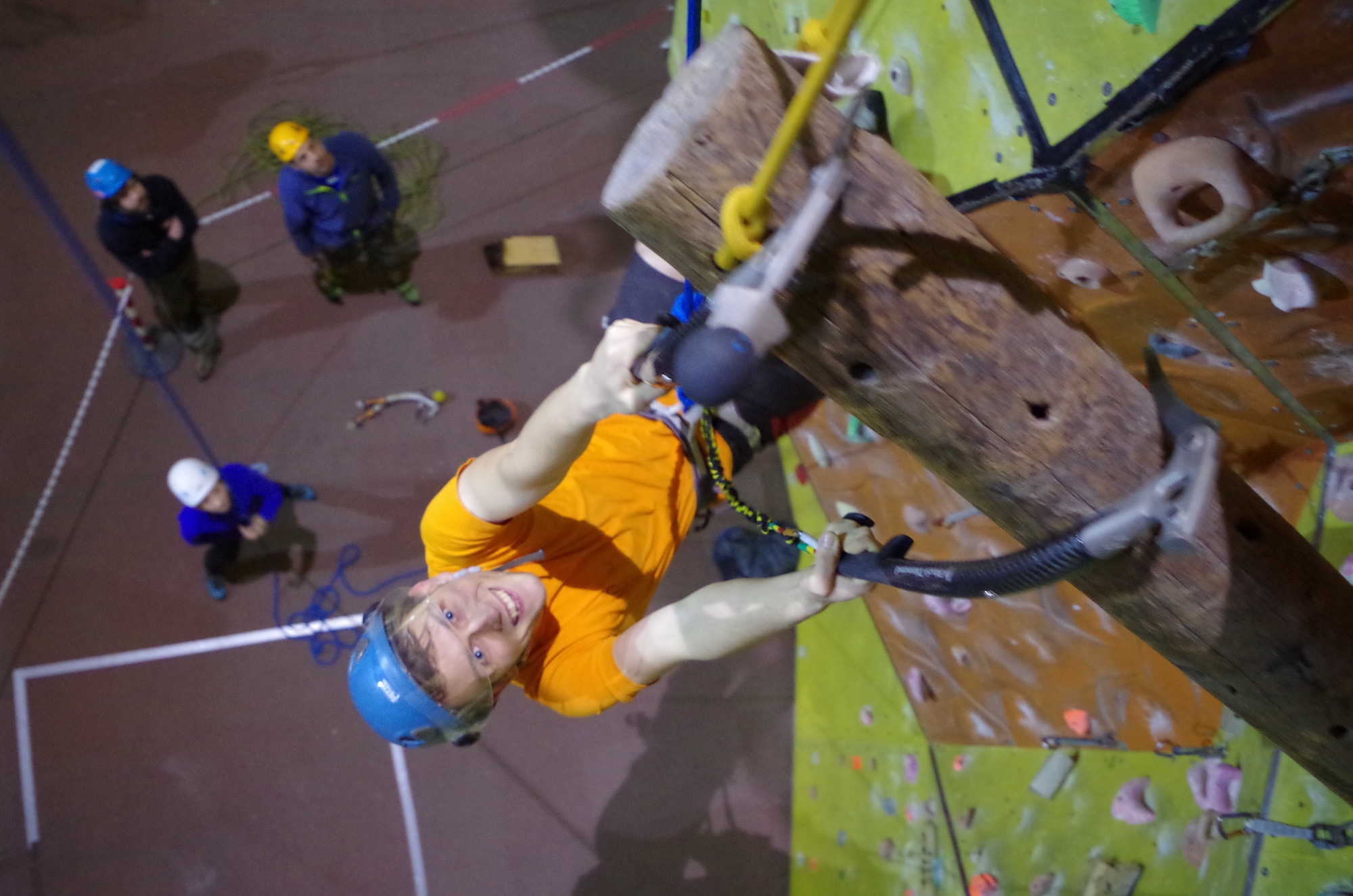 Dry tooling at Rock and Rapid