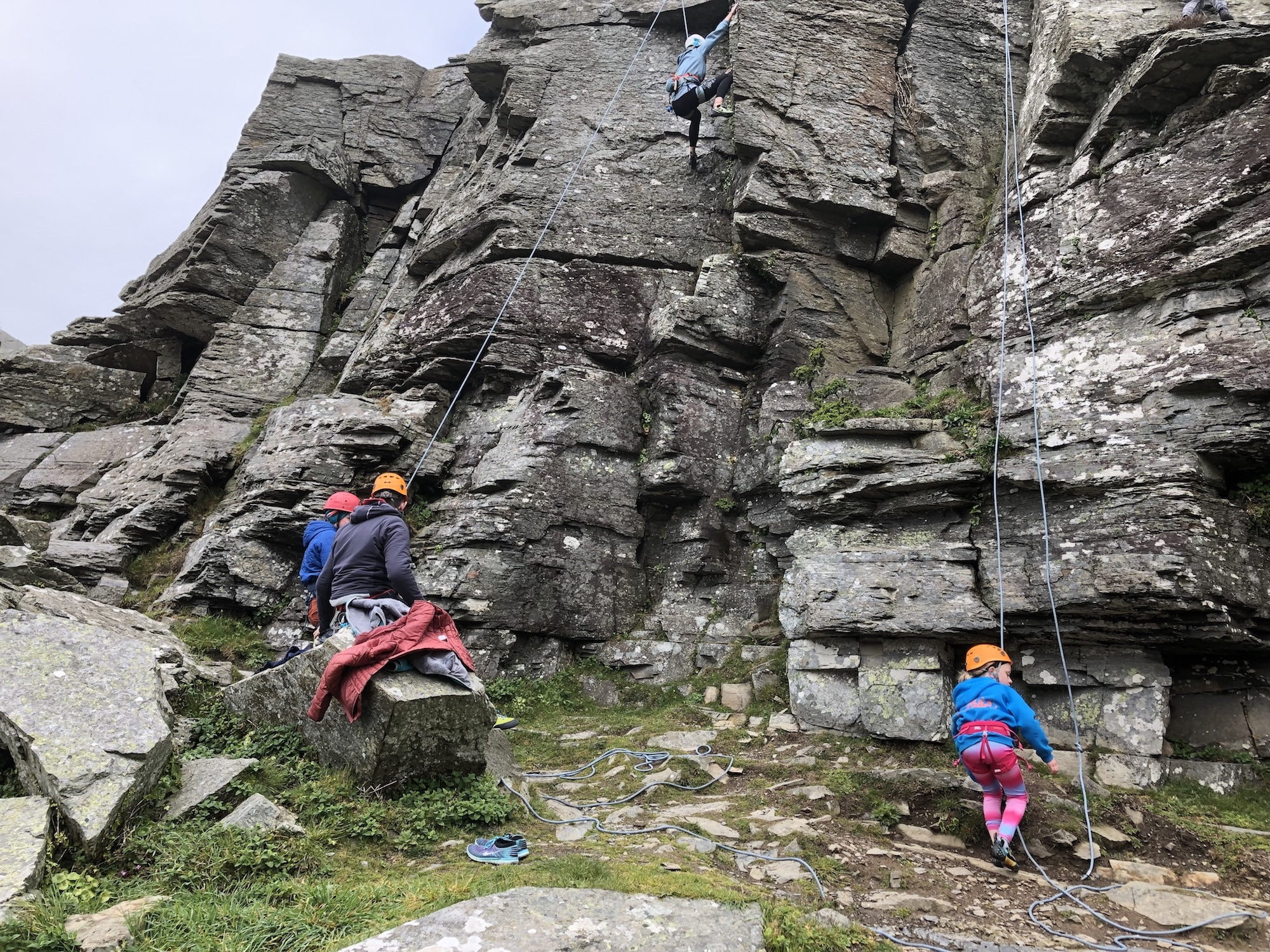 Activity week - climbing at Valley of the Rocks