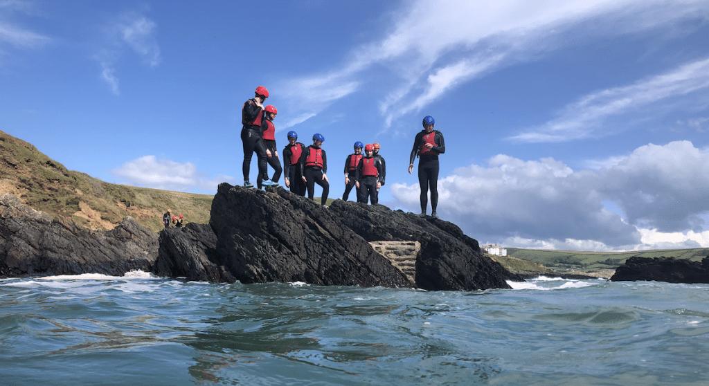 Coasteering in North Devon